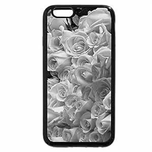 iPhone 6S Plus Case, iPhone 6 Plus Case (Black & White) - Bunch of roses
