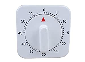 Demarkt Mechanical Kitchen Timer/60 Mins/White