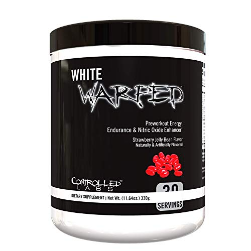 White Warped Pre-Workout Powder by Controlled Labs, 30 Servings for Increased Energy, Endurance, and Nitric Oxide Enhancement, Fast Absorbing for Workouts, Training, Sports and Bodybuilding)