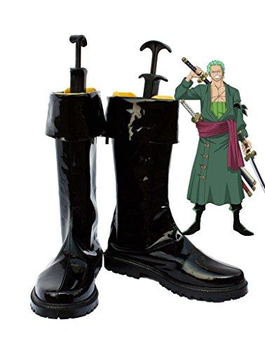 Zoro Cosplay Costume (One Piece Anime Roronoa Zoro Cosplay Shoes Boots Custom Made 1)