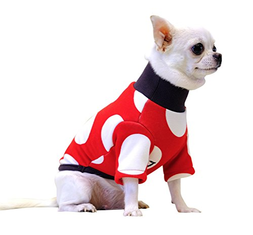 [Freerun Pet Dog Puppy Cotton Clothes Red White Fur Lining Warm Cold Weather Pet Costume - Red, S] (Cow Hooves Costume)