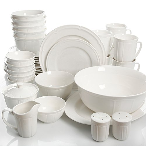 Gibson Home Paton 37 Piece Dinnerware Set, White