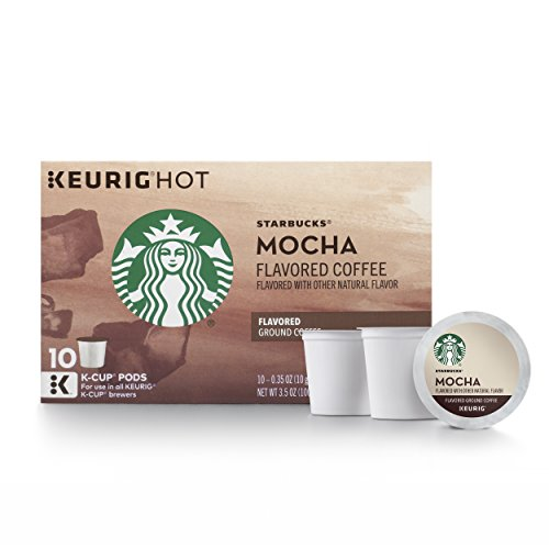 Starbucks Mocha Flavored Medium Roast Single Cup Coffee for Keurig Brewers, 10 Count