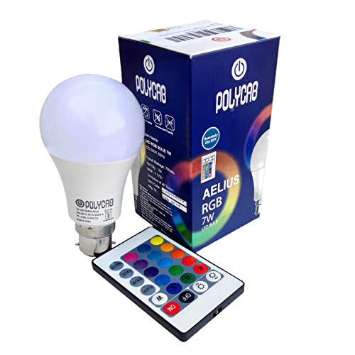 PickTheDeal 7-Watts B22 LED Multi Color Bulb, Pack of 1, Sensor 7w Policab