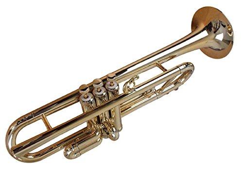 Tromba TP1-GD Plastic BB Trumpet, Gold by Tromba