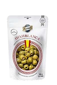 DUMET AG Spanish Hojiblanca Gourmet Green Olives 150g