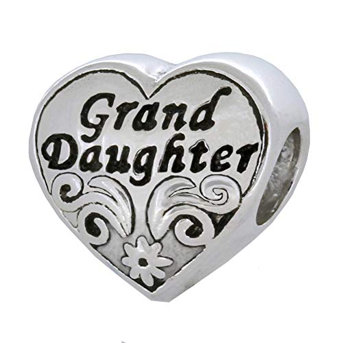 Zable Sterling Silver Granddaughter Heart Bead Charm