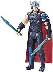 Avengers Boneco Eletrônico Thor Ragnarok Preto/Vermelho 30cm