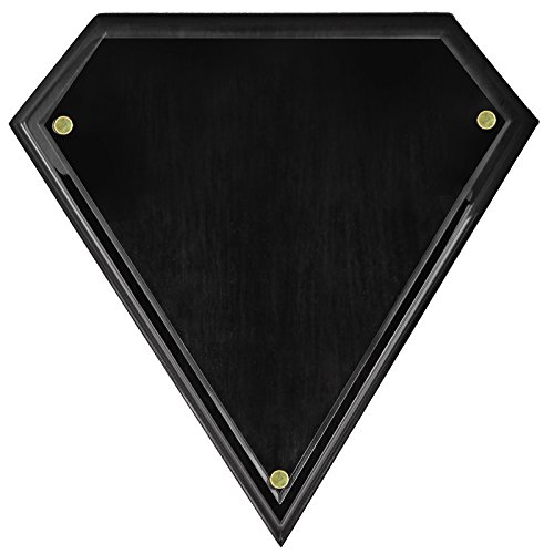 - Customizable Diamond Shape Black Piano Finished Plaque, Includes Personalization
