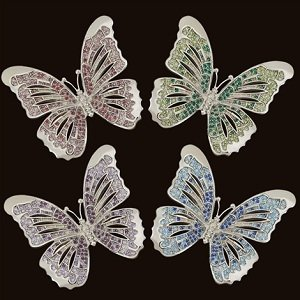 L'Objet Platinum Butterflies Napkin Jewels Set of - Jewel Platinum