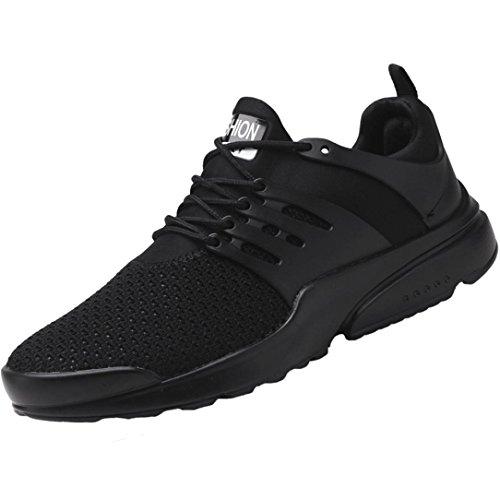 Autunno per Stringate Le Comfort Sneakers 45 Scarpe Leggere Tessitura Uomo Scarpe Gomma Primavera da da UOMOGO Suole Asia di Passeggio Nero Scarpe di Tulle FUqznnw4