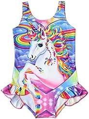 Mordarli Girls Swimsuits One Piece Kids Unicorn Gymnastics Leotard