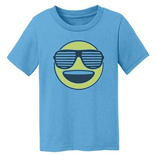 Digital T-Shirt Shop Baby-boys Cool Happy Emoji with Sunglasses