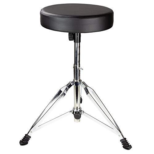 Rockjam Drum Stool with Padded Seat - Chrome