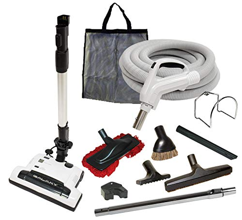 Alder Products Ltd. Galaxy Deluxe Central Vacuum Kit with Hose, Power Head & Wands - Works with All Brands of Central Vacuum Units (35', Black) ()