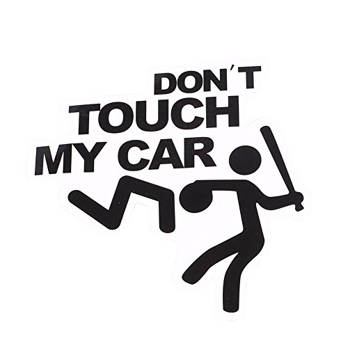 Sedeta Fashional Cartoon Funny Character Anime Sticker Car Luggage Self Adhesive Decor don't touch my car