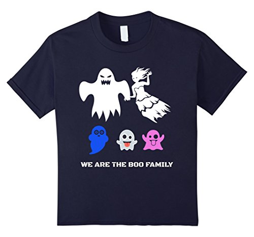 Top 10 Scariest Costumes (Kids Girls and boys Scary Halloween costumes boo ghost T shirt 10 Navy)