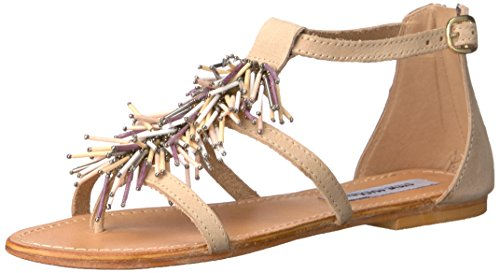 Boho-Chic Vacation & Fall Looks - Standard & Plus Size Styless - Steve Madden Women's Beadiee Flat Sandal, Blush Print, 7 M US