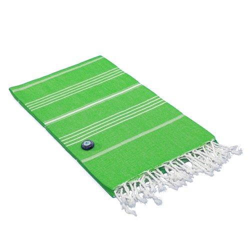 Linum Home Textiles 'Diamond' Turkish Pestemal Towel - Green