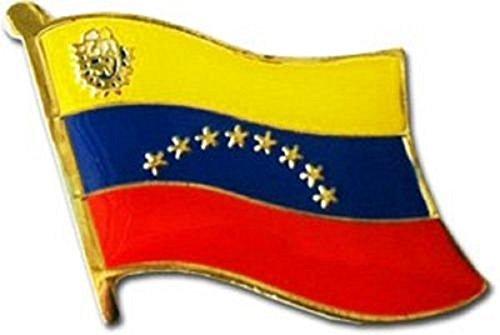 Pin Bike Brooch (K's Novelties Wholesale Pack of 6 Venezuela Country Flag Bike Hat Cap Lapel Pin)