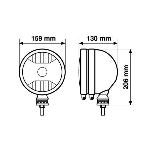 Faro de larga alcance Trophy II de alta potencia 12//24 V protecci/ón para faros homologada seg/ún las normas E13