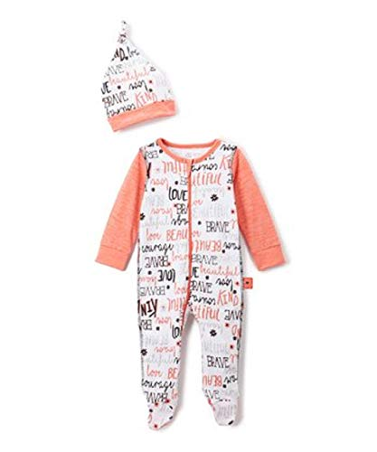 Baby Starters Baby Boys 2 Piece Footie Set,Orange, Black,3 Months