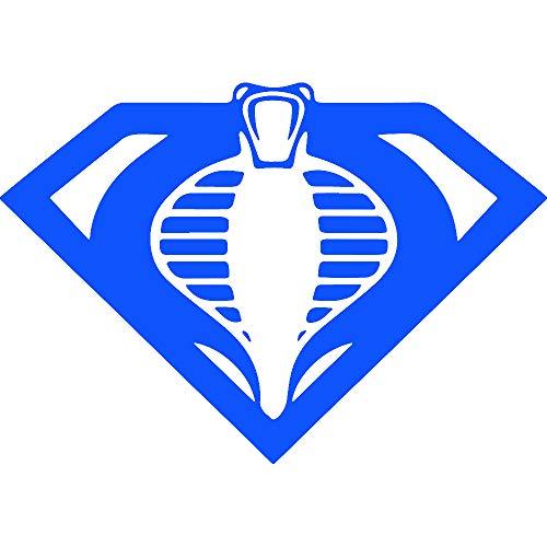 NBFU DECALS Joe Cobra Superman Mashup (Azure Blue) (Set of 2) Premium Waterproof Vinyl Decal Stickers for Laptop Phone Accessory Helmet Car Window Bumper Mug Tuber Cup Door Wall Decoration