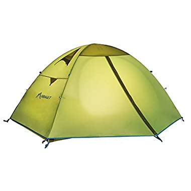 Mountaintop Outdoor 2/3/4 Person Camping Tent/Backpacking Tents with Carry Bag, Double layers, Three Seasons Tents for Camping Green1202