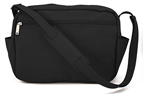 Be Safe Bags Anti-Theft Large Travel Shoulder Bag, 9 Pocket (Microfiber Travel Purse)