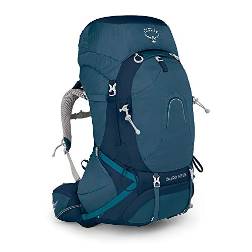Osprey Packs Pack Aura Ag 65 Backpack,  Challenger Blue, Small