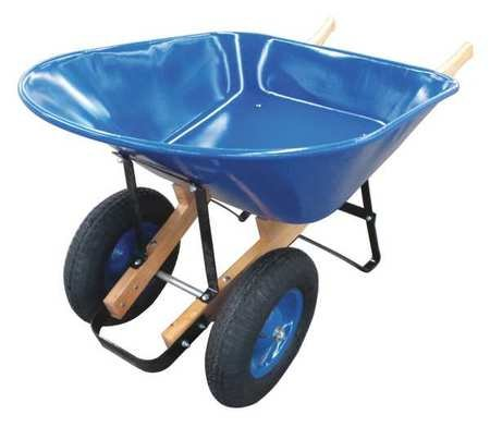 Wheelbarrow, Steel, 8 cu. ft., 2 Pneumatic