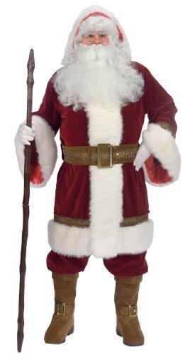 Deluxe Old Time Santa Suit Costume - Standard (Old Time Santa)