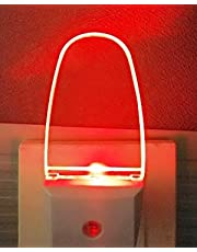 2 Pack LED Night Light Lamp with Dusk to Dawn Light Sensor Color Selection Night Lights(Red)