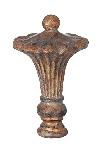 B&P Lamp Royal Style, Copper, 3 5/8 In Ht, 1/4-27 Tap (Lamp Finials Copper)