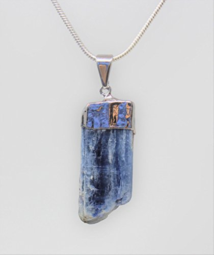 1 Pckt of Charged Silver Plated Kyanite Blade Pendant Crystal + 18