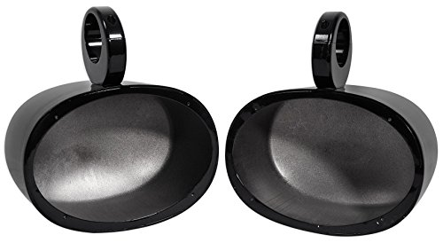 Pair Rockville MAC69B 6x9 Aluminum Wakeboard Tower Speaker Pod Enclosures, Black