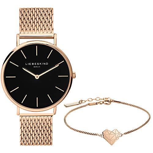 Liebeskind Berlin Set aus Armbanduhr und Armband LS-0090-MQB