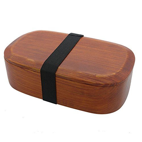 Ecloud Shop Wooden Bento Box,Japanese Wooden Lunch Bento Wooden Box Wood Food Container