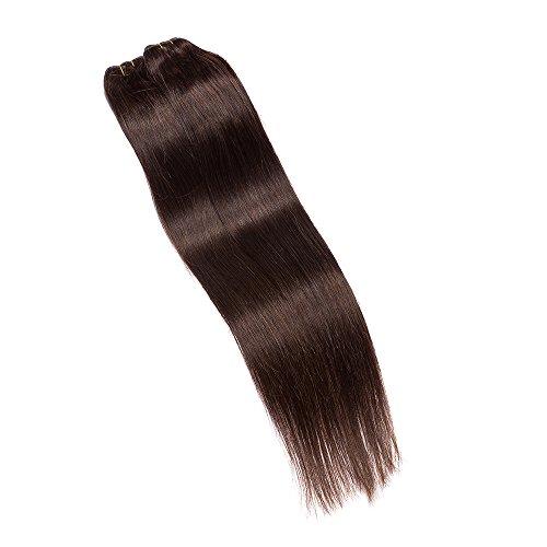 TRENDS® 16 inch #2 Dark Brown Remy Straight Brazilian 100% Virgin Human Hair Weaving Weft Extension 100g