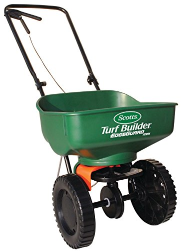 Scotts Broadcast Spreader. Use It For Grass Seed, Manure, Salt, Compost, Fertilizer & Turf Builder For Growing Plants, Flowers & Shrubs In Garden Lawn, Yard, Backyard. Heavy Duty. Edgeguard Technology