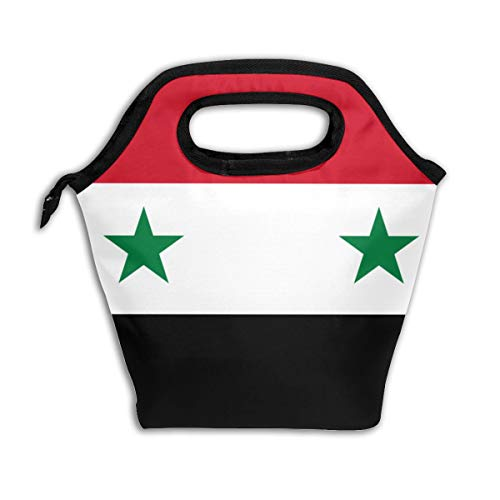 L;nhojnb Flag of The United Arab Republic Adult Portable Lunch Bag Insulation Office Outdoor Picnic Children's Lunch Bag -