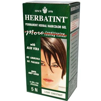 Price comparison product image Herbatint 5N Permanent Herbal Light Chestnut Haircolor Gel Kit -- 3 per case.