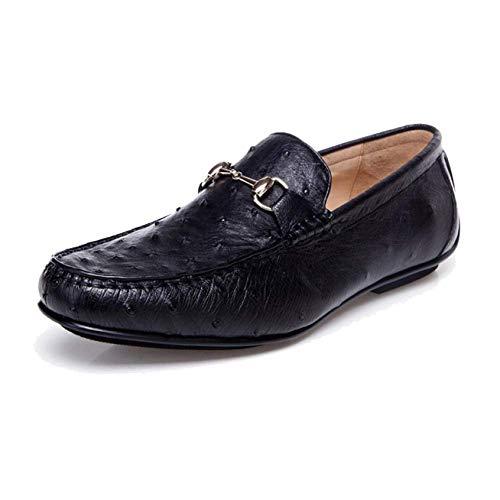Uomo Pigro da Pelle Scarpe Black Trend Casual End High Scarpe in Fatte Rotonde Mano Custom A WCYqw6ZZg