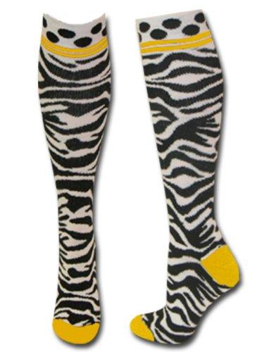 Zebra Knee Socks - 7