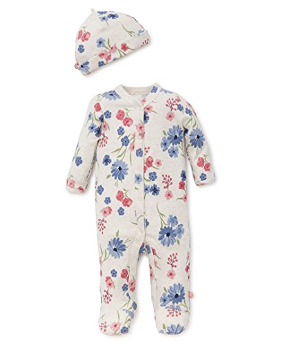 Offspring - Baby Apparel Baby Girls' Newborn Footies, Mixed Bouquet, 6M