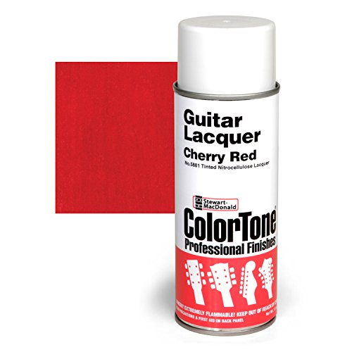 ColorTone Tinted Aerosol Guitar Lacquer, Cherry Red