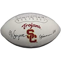 $179 » OJ Simpson Autographed USC Trojans White Logo Football Heisman 68 JSA