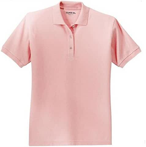 Clothe Co. Ladies Short Sleeve Polo Shirt Available in 38 Colors