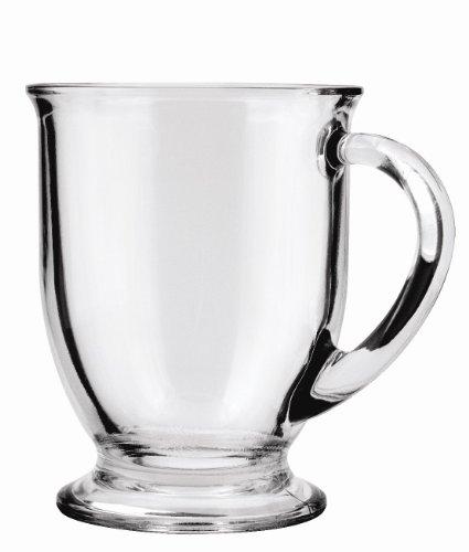16 oz glass coffee mug set - 4