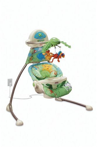 amazon com fisher price cradle n swing rainforest stationary rh amazon com Rainforest Swing Replacement Parts Rainforest Swing Replacement Parts